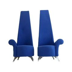 Image of Modern Italian High Back Chairs