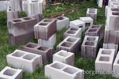"""How to for concrete block """"sofa"""""""