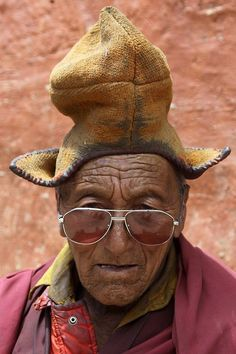 India - Ladakh - Monk of the Rangdum Monastery Pharrell Williams wants his  hat back . 2533d659610