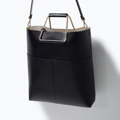 Image 5 of SHOPPER BAG WITH METAL HANDLE from Zara