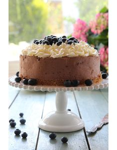 Mustikkainen suklaajuustokakku | Maku