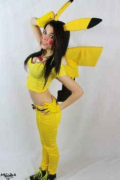 This is the exact same idea I had got my Pikachu costume <3