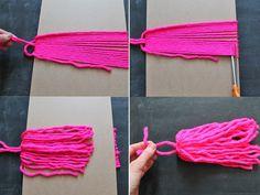 yarn tassel steps 9-12