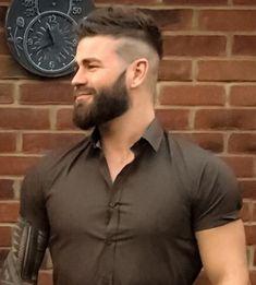 Hairy Men, Bearded Men, Hair And Beard Styles, Hair Styles, Awesome Beards, Men's Hairstyle, Men's Grooming, Undercut, Moustache