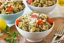 Recipe: Creamy Chicken Salad with Parsley Walnut Pesto & Sun-Dried Tomatoes Recipes from The Kitchn   The Kitchn
