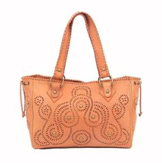 Genuine leather tote bag with traditional Javanese pattern. With $180 and free shipping and it can be yours!  Visit our eBay store : stores.ebay.com/shopatever for more details.
