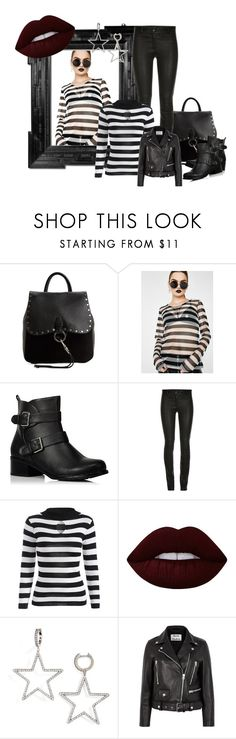 """""""when the thieves came..."""" by coco-drives-taxi ❤ liked on Polyvore featuring Rebecca Minkoff, Tripp, Linda Horn, George, ElleSD, Lime Crime, Kate Spade and Acne Studios"""