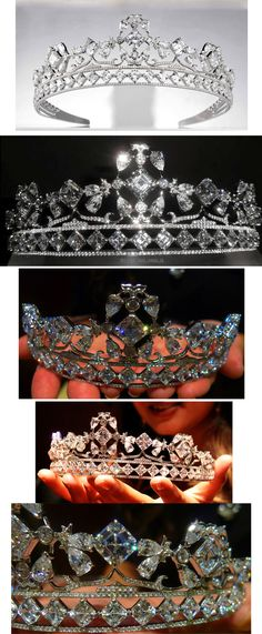 The Royal Asscher tiara. 85 carat tiara designed by Reena Ahluwalia for Royal Asscher Diamonds. This tiara was amongst few that Kate Middleton, now Duchess of Cambridge, considered wearing for her royal wedding to Prince William.