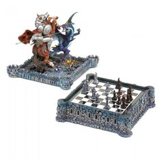 Dragon Crest 37128 Dragon & Knight Chess Set