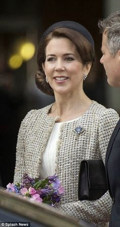 Crown Princess Mary of Denmark attend a lunch reception to mark the forthcoming 75th Birthday of Queen Margrethe II. of Denmark at Aarhus City Hall in Aarhus2015-04-08