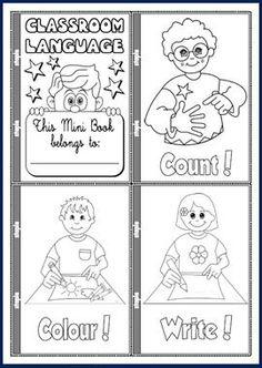 CLASSROOM LANGUAGE COLOURING MINI BOOK