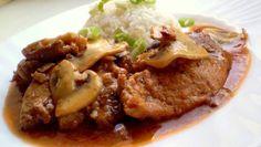 vepřové maso | Vaření s Tomem Beef, Red Peppers, Meat, Steak