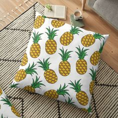 « Ananas Fruit Exotique » par LenysEcoHome | Redbubble Gold Pineapple, Golden Color, Throw Pillows, Texture, Exotic Fruit, Floor Cushions, Surface Finish, Toss Pillows, Cushions
