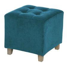 Pouf bleu canard : les plus beaux modèles Pouf Bleu, Deco Boheme, Tub Chair, Decoration, Accent Chairs, Ottoman, Furniture, Home Decor, Square Ottoman