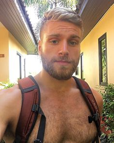 Rugged & Masculine Moustaches, Great Beards, Beard Lover, Blonde Guys, Bear Men, Hommes Sexy, Hot Hunks, Raining Men, Hairy Chest