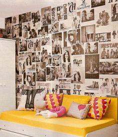 Com Arte e Amor: Passo a passo: parede customizada com fotos ou jornal