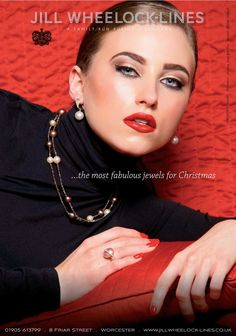 Photographed for Jill Wheeler-Lines Christmas advert.  Hair & Makeup: Sammy Carpenter.  Photography: Alistair Cowin