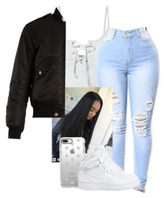 """Untitled #18"" by jordyghicks on Polyvore featuring LE3NO, Casetify, NIKE and Yves Saint Laurent"