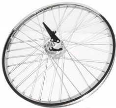 """26"""" front rim w/ drum brake -  26"""" front rim with Sturmey archer drum brake hub. Heavy Duty spokes and chrome rim. Ideal braking system for your motorized bicycle. If your going to ride fast you should have the braking power to match it. This rim definitely has the stopping power. $99.00"""