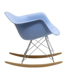 Rocker Lounge Chair In Blue - EEI-147-BLU Free Shipping DESCRIPTION : Add some pizazz to your to your room with the iconic Rocker lounge chair. Popular for decades in nurseries and other eclectic spaces, Rocker is an ambitious piece richly filled with symbolism. The original designers spared no effort searching for new materials and shapes. These ambitions led them to create the deep plastic seat pocket and waterfall seat edge chair, that you see before you.