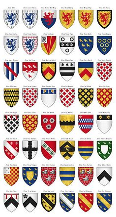 The Surrey Roll of Arms (aka Willement's Roll) - Shields 170-217 - Category:Surrey Roll - Wikimedia Commons