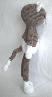 haakhooked: Gratis haakpatroon Poes Lisa Indie, Crochet Hats, Cats, Lisa, How To Make, Amigurumi, Knitting And Crocheting, Knitting Hats, Gatos