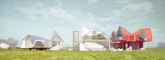 nikita barinov envisions three buildings for design a beautiful house competition