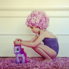 cute girlie beach belle art with my little pony make good picture in the bedroom or bathroom of alices who like it quirky, kitsch and contemporary retro chic in the home