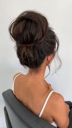 Updo Hairstyles Tutorials, Ball Hairstyles, Wedding Bun Hairstyles, Bun Hairstyles For Long Hair, Prom Hair Bun, Short Hair Bun, Up Dos For Medium Hair, Medium Hair Styles, High Bun Tutorials