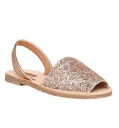 961848971 Solillas Solillas Sandal Peach Glitter - Sandals Glitter Sandals