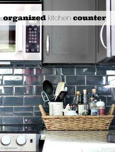 Hi Sugarplum | Organize the clutter next to your Kitchen Stovetop