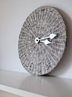 Newspaper wall clock * BluReco https://www.facebook.com/BluReco?ref=tn_tnmn