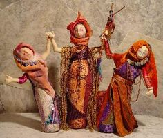 """Three Phases of the Goddess"" Art Dolls"