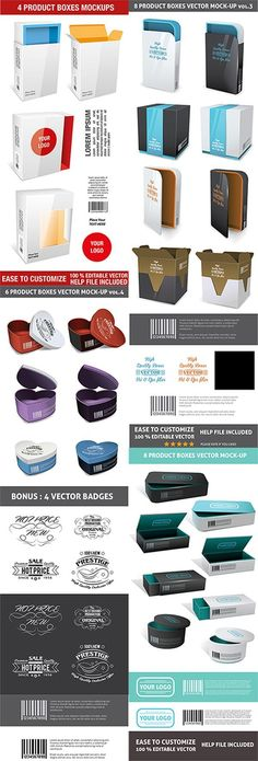20 Realistic Product Packaging Mockup Template Psd Free