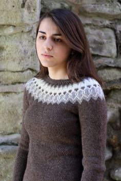 If you want to knit this sweater join the Strokkur KAL on Ravelry!   A cosy sweater with a stylish yolk pattern! @ysolda #baarameweknits