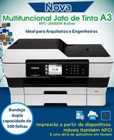 Lançamento Brother - Nova Multifuncional Jato de Tinta A3