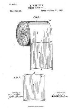If there was ever any question...This 124-Year-Old Patent Reveals The Right Way To Use Toilet Paper