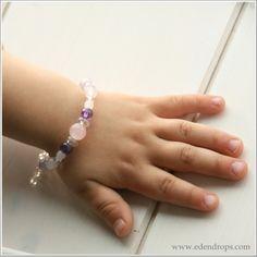 Bracelet Enfant Touche de lavande (Coll. Maman-Enfant) by EDENDROPS