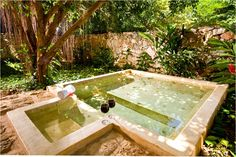 Plunge pool available in the private garden of the Deluxe Room and Royal Suite.