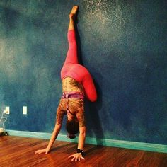 Forget the Mat! Try These Wall Yoga Poses yoga inspiration intermediate yoga yoga pose inspiration