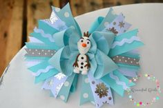 Olaf Inspired Sassy Bow, Custom Colors- You Pick!