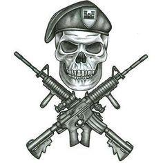 Military Tattoos on Army Infidil Tattoo Design Tattoowoo Com skull guns tattoo flash art ~A.R.