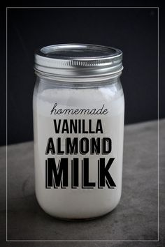 Make your own Vanilla Almond Milk and feel like a champ!