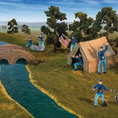 These hand-painted Civil War figures  bring any history book to life. This collection includes both Confederate and Union soldiers, bridges and tents that creates a diorama of how these historic battlefields actually looked. All soldiers come with 5 language educational information which can be found at safariltd.com.