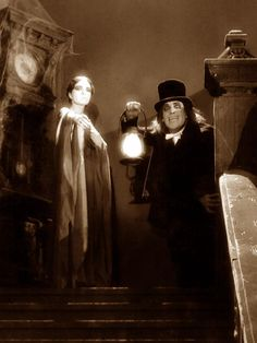 Lon Chaney in lost film ' London After Midnight ' 1927 Retro Horror, Horror Icons, Gothic Horror, Vintage Horror, Sci Fi Movies, Scary Movies, Old Movies, Comedy Movies, Vintage Movies