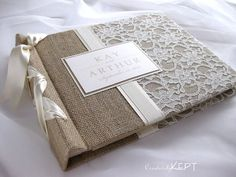 Album or Guest bookBurlap and Lace by creativelykept on Etsy, $99.00