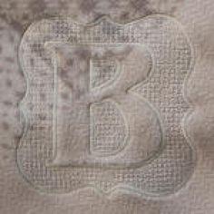 Embossed Frame Machine Embroidery Monogram Alphabet | Designs by JuJu