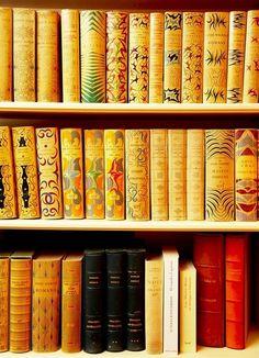 Wonderful book spines...
