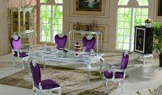 6 purple dining room purple