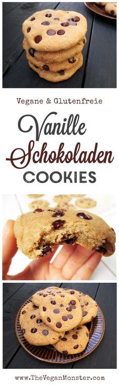 Vegane Glutenfreie Vanille Schokoladen Cookies Kekse Rezept